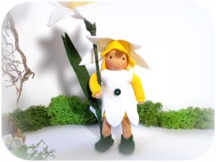 Osterglocke für den Jahreszeitentisch