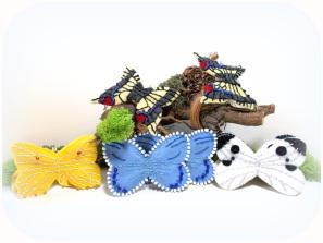 Schmetterlinge aus Wollfilz
