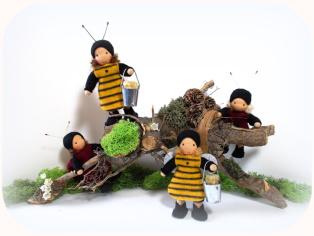 Bienen für den Jahreszeitentisch