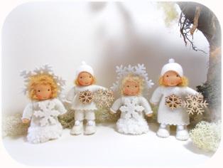 Blumenkinder nach Waldorf Art, Schneeflöckchen