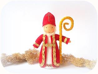 Nikolaus für den Jahreszeitentisch