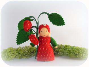 Erdbeere für den Jahreszeitentisch