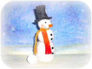 Schneemann aus Filz