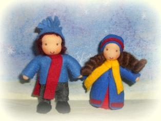 Winterkinder für den Jahreszeitentisch