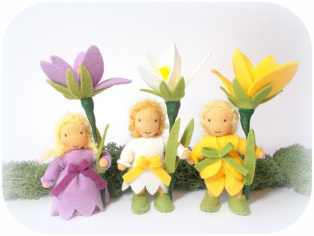 Gänseblümchen Blumenkind nach Waldorf Art