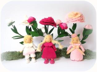 Blumenkinder Pfingstrose Jahreszeitentisch