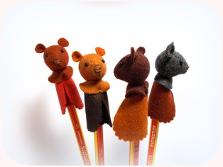 Stift mit Teddy