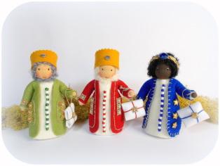 Könige für die Weihnachtskrippe