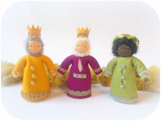 drei Könige aus Wollfilz