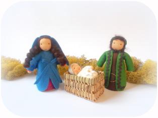 Maria und Josef für den Jahreszeitentisch
