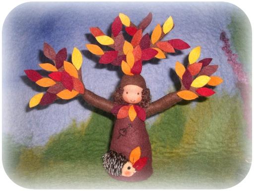 Blumenkinder für den Herbst Baum