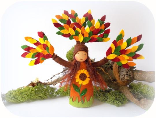 Herbst Baum Jahreszeitentisch