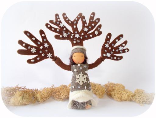 Winterbaum für den Jahreszeitentisch
