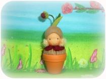 Wichtel im Blumentopf