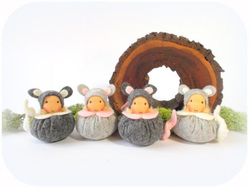 Knubbelwichtel, Mäuse, Filzmäuse