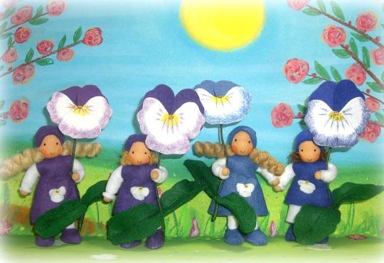 Stiefmütterchen Blumenkinder