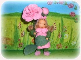 Blumenkind nach Waldorf Art Rose