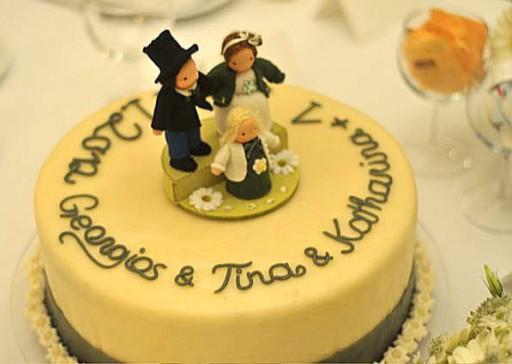 Hochzeitstorte aus Filz