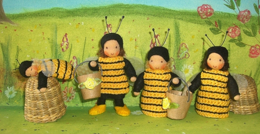 Bienen, Püppchen nach Waldorf Art