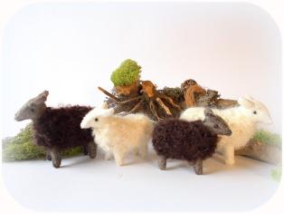gefilzte Schafe, Nadelfilz