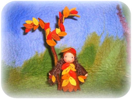 Blumenkinder für den Herbst Laubkind