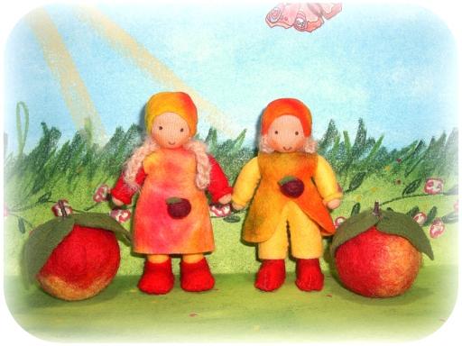 Apfelkinder nach Waldorf Art