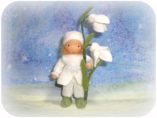 Blumenkinder für den Winter, Schneeglöckchen