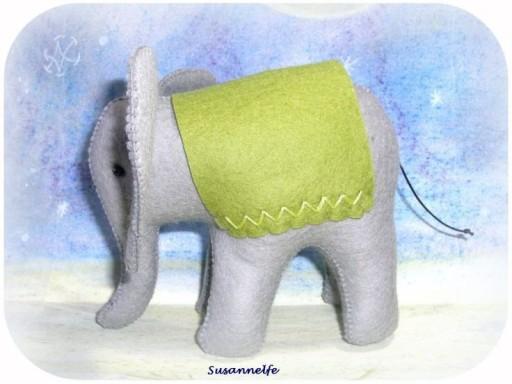 Elefant aus Filz, Krippentiere