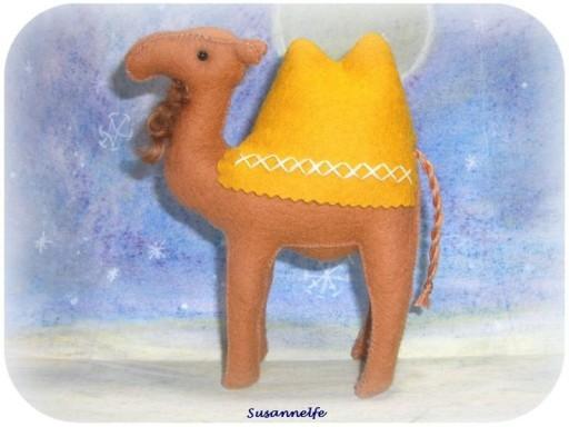 Kamel aus Filz, Krippentiere