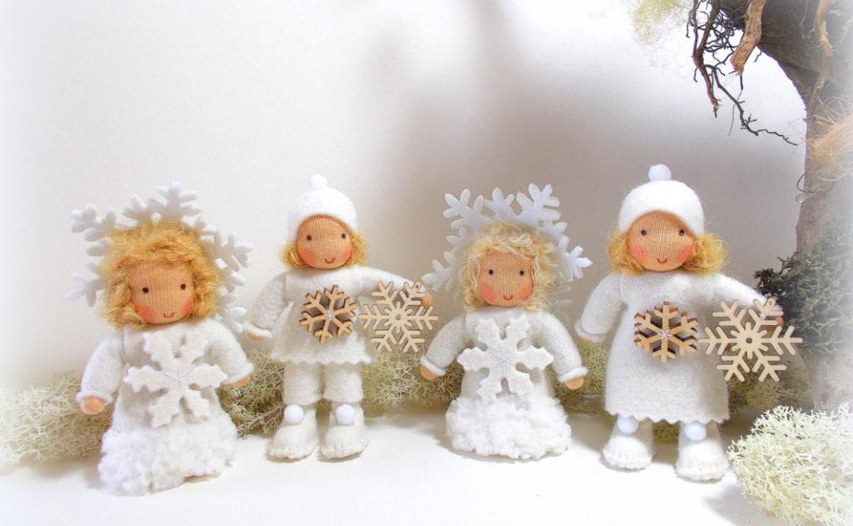 Schneeflocken für den Jahreszeitentisch