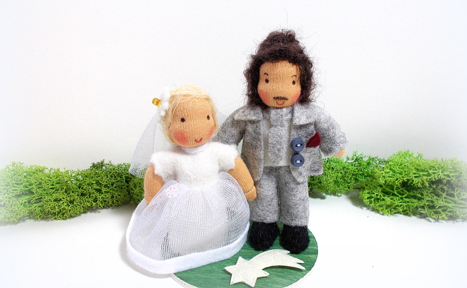 Brautpaar für die Hochzeitstorte